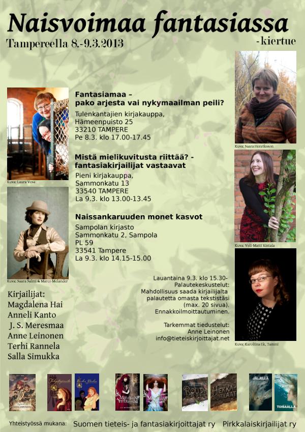 Naisvoimaa fantasiassa, Tampereella 8.-9.3.