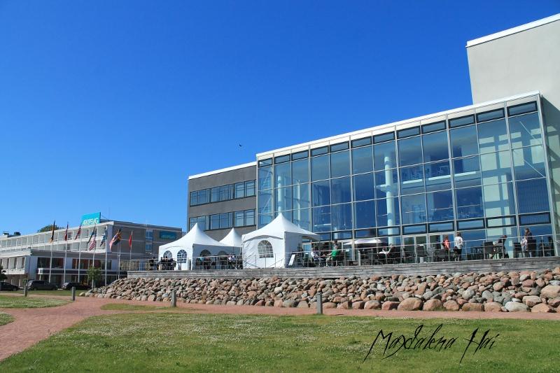 Con-paikka Alandica ja hotelli Arkipelag, jossa iltabileiltiin.