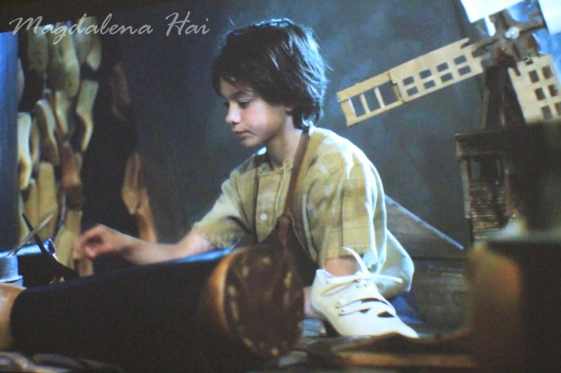 Näyttelyyn kuului myös suloinen taide-elokuva, jossa kerrottiin Salvatore Ferragamon tarina fantasian keinoin.